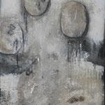 """Bild """"Corso"""", Größe 80 x 100 cm, Acryl, Collage, Steinmehl auf Leinwand"""