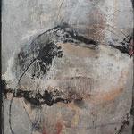 """Bild """"Kanami"""" Größe 60 x 80 cm, Acryl, 'Collage, Steinmehl auf Leinwand"""