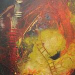"Bild ""Sparkle"", Größe 60 x 80 cm, Acryl, Sand auf Leinwand"