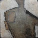 "Bild ""Jona"", Größe 70 x 70 cm, Acryl, Kohl, Steinmehl auf Leinwand"