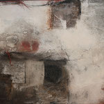 """Bild """"Paton"""", Größe 120 x 80 cm, Acryl, Steinmehl, Collage auf Leinwand"""
