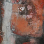"Bild ""Riko"", 90 x 200 cm, Mischtechnik auf Leinwand"