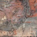 "Bild ""Trailer, Größe 120 x 40 cm, Acryl, Kohle, Sand auf Leinwand"
