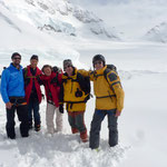 Start beim Jungfraujoch mit 30 cm Neuschnee