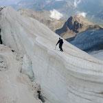 Gletscherspalten auf dem Persgletscher
