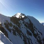 Blick vom Talspitz Richtung Gipfel