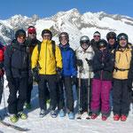 Skiclub Raron mit Nesthorn im Hintergrund
