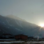 Abendsonne mit Illhorn und Meretschihorn