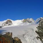Blick zum Bishorn von der Hütte aus