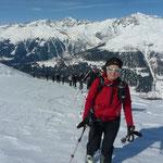 Aufstieg zum Ettriastand mit Wannenhorn im Hintergrund