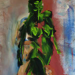 Groen Pantser (Green Armour), 2016. Lily van Riemsdijk. 50 x 70cm. Acryl on canvassheet.