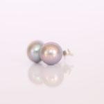 Ohrstecker Süsswasserzucht Perle auf Silber und Goldschüsselchen je nach Wunsch in verschiedenen Größen