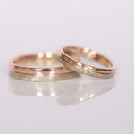 Ringe zusammengelötet mit Diamanten Foto Stella Schlatte