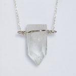 925 Sterling Silber Geburtsstein Bergkristall