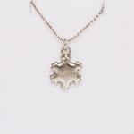 925 Sterling Silber Kette Schneeflocke mit Gravur