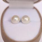 Ohrstecker Süsswasserzucht Perle auf Silber und Goldschüsselchen je nach Wunsch in verschiedenen Größen Foto Stella Schlatte