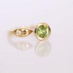 Verlobungsring 14 kt Gelbgold mit grünen Turmalin Foto Stella Schlatte