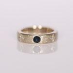 Eheringe 14 kt Weissgold diamantiert mit Saphir Fotos Stella Schlatte