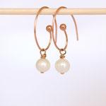 Ohrhänger Silber Rotvergoldet Perle auch in Gold erhältlich auf Bestellung