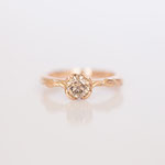 Verlobungsring 14 kt Rotgold mit Diamant