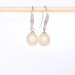 Ohrhänger Silber mit Perle