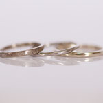Eheringe 14 kt Weissgold mit diamantierter und glänzender Oberfläche Foto Stella Schlatte