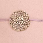 Die Blume des Lebens, ein weltweit bekanntes altes Glückssymbol für den Fluss der Liebe und Energie.
