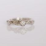 Eheringe 14 kt Weissgold mit Gravur und Diamant Foto Stella Schlatte