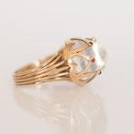 Vintage Ring Mondstein in 14 kt Gelbgold