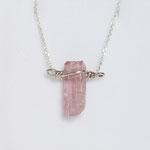925 Sterling Silber Geburtsstein rosa Turmalin