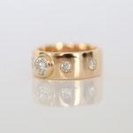 Verlobungsring 14 kt Gelbgold mit Diamanten Foto Stella Schlatte