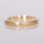 Eheringe 14 kt Gelbgold kreisdiamantiert mit Diamant