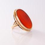 Ring in 14 kt Gelbgold mit echtem Karneol