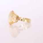 Verlobungsring in 14 kt Gelbgold mit Citrin Foto Stella Schlatte