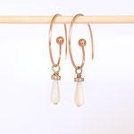 Ohrhänger Silber Rotvergoldet Perlmut auch in Gold erhältlich auf Bestellung Foto Stella Schlatte