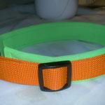 Gurtband orange, Polster hellgrünes Neopren