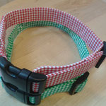 Halsbänder mit Baumwoll-Karostoffe, ist stufenlos verstellbar