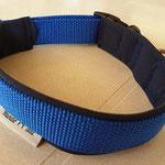 Gurtband blau 2,5cm, Polster Softshell dunkelblau