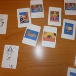 schwarzes Memory - selbstentworfenes Kartenspiel