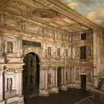 Théâtre olympique de Vincence construit par Palladio en 1580