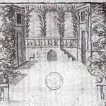 Les Occasions perdues de Rotrou, un décor à compartiments à l'Hôtel de Bourgogne en 1633, dessin de Mahelot (manuscrit BNF)