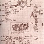 Plan de la scénographie du Mystère représenté à Lucerne