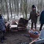 """NABU Bad Eilsen - """"Stacheldrahtaktion Luhdener Wald"""" - Foto: Julia Metzner"""