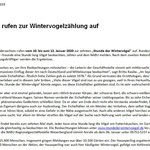 PM Wintervogelzählung - RGS WB