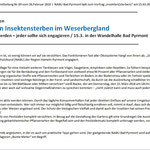 PM RGS WB: NABU Bad Pyrmont: Vortrag zum Insektensterben + Maßnahmen