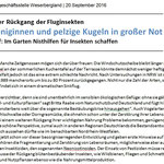 Pressemitteilung RGS Weserbergland - Insekten in Not