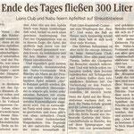 """""""Am Ende des Tages fließen 300 Liter Saft"""" - Presseartikel SZ"""