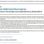 """Regionalgeschäftsstelle Weserbergland - NABU Bad Eilsen - """"Stacheldrahtaktion Luhdener Wald"""""""