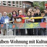 "Presseartikel, SZ - ""Schwalben willkommen"" an der Grundschule Exten"