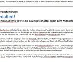 PM RGS WB - Kreisverband Hildesheim: Rettet die Eschenalle